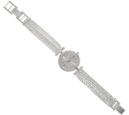 UltraFine Silver Multi-strand Bracelet Watch 37.0g