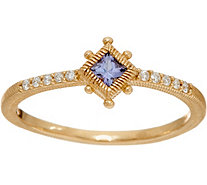 Judith Ripka 14K Gold Gemstone & Diamond Ring - J348091