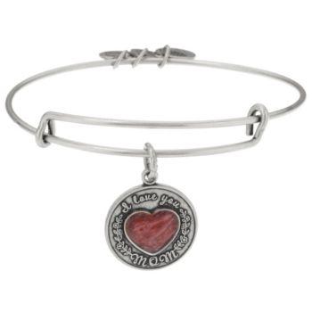 Alex and Ani I Love You Mom Charm Bangle Bracelet