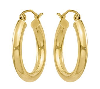 14K Gold Classic Hoop Earrings - J374791