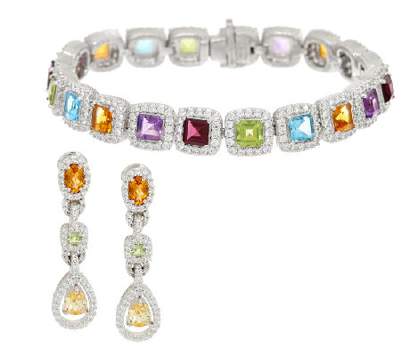 Judith Ripka Multi Gemstone Bracelet Or Earrings