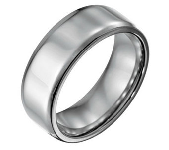 Forza Men's 8mm Steel w/ Beveled EdgePolished Ring - J109492