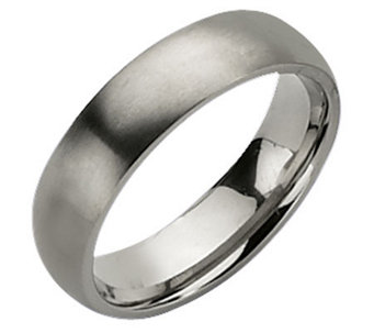 Titanium 6mm Brushed Ring - J109992