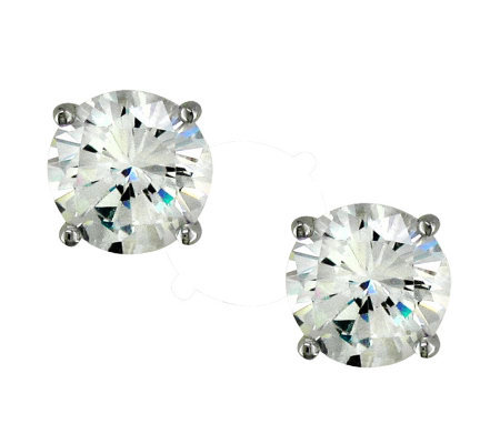 Diamonique 5 cttw Round Stud Earrings, Platinum Clad