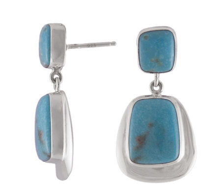 Bisbee Limited Edition Four-Stone Turquoise Earrings