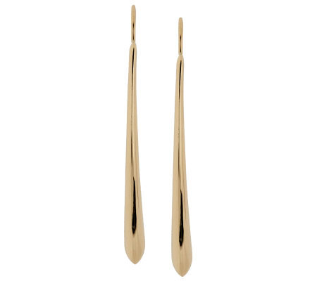 Polished Elongated Earrings 14K Gold