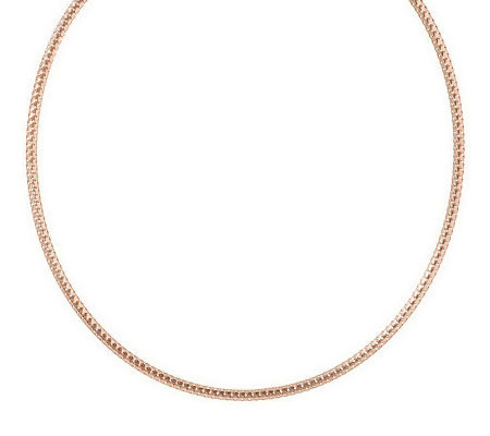 """As Is"" 20"" Bold Woven Round Omega Necklace, 14K Gold"