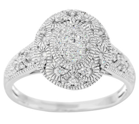 Estate Style Diamond Ring, Sterling, 1/5 cttw, by Affinity