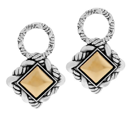 JAI Sterling & 14K Trellis Earring Charms