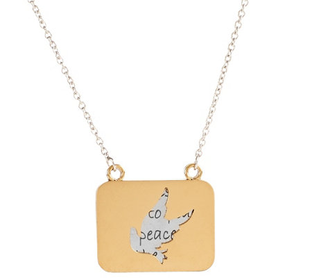 Stainless Steel Two-Tone Inspirational Necklace