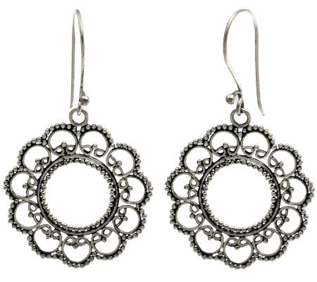 "Novica Artisan Crafted Sterling ""Summer Blossom"" Earrings"