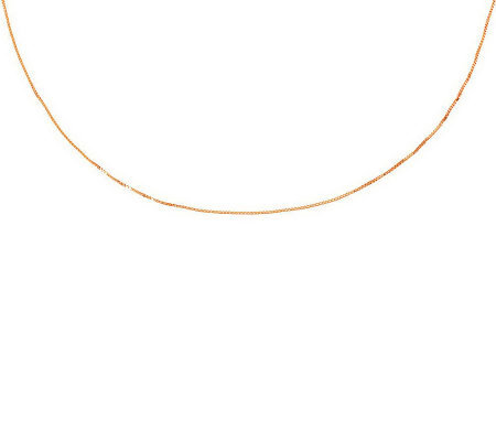 "36"" Fine Polished Box Chain,14K Gold 3.3g"