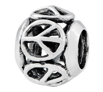 Prerogatives Sterling Peace Sign Bead - J312792