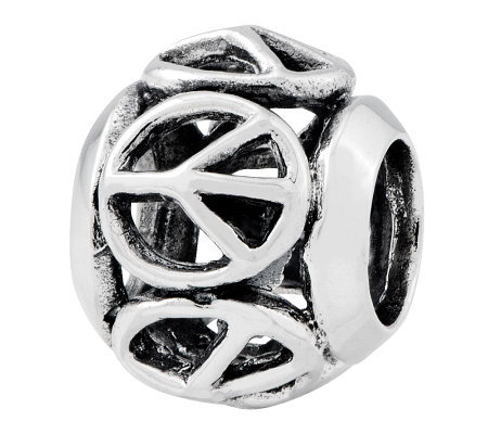 Prerogatives Sterling Peace Sign Bead