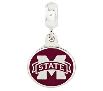 Sterling Silver Mississippi State University Dangle Bead - J314992