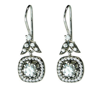 Diamonique 4.70 ct tw Sterling Square-Shaped Earrings - J315092
