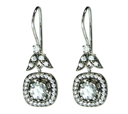 Diamonique 4.70 ct tw Sterling Square-Shaped Earrings