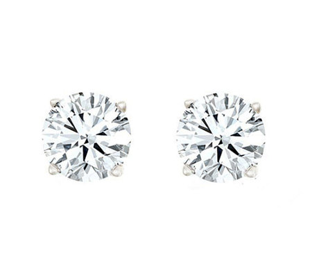 Round Diamond Stud Earrings, 14K, 1/4cttw by Af finity