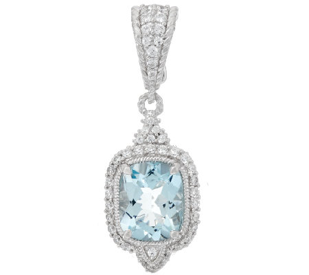 Judith Ripka 2.45 ct Aquamarine & Diamonique Enhancer