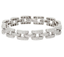 "Sterling Silver 8"" Diamond Cut Bracelet by Silver Style - J320992"