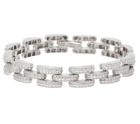 "Sterling Silver 8"" Diamond Cut Bracelet by Silver Style"