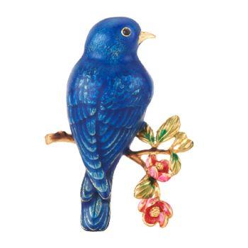 Joan Rivers Flights of Fantasy Bluebird Pin