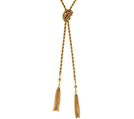 BaubleBar Tassel Lariat Necklace