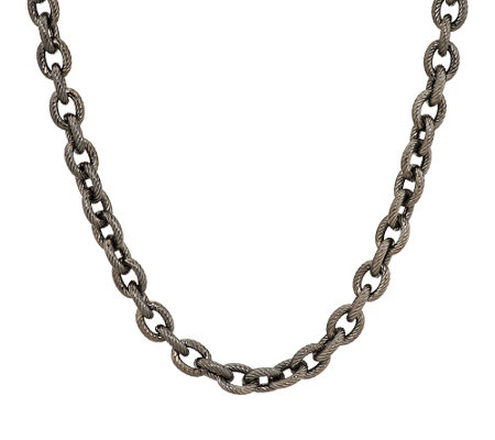 """As Is"" Judith Ripka Sterling & 14K Clad 18"" Verona BoldRolo Necklace, 31.2g"