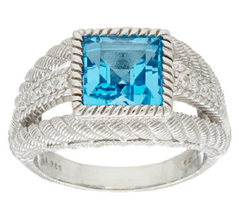 Judith Ripka Sterling Gemstone Ring - J325292