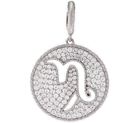 Judith Ripka Sterling 2.60 cttw Diamonique Zodiac Enhancer