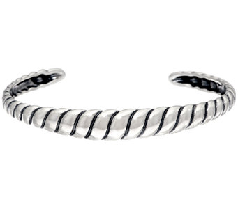Carolyn Pollack Sterling Silver Ribbed Cuff Bracelet - J328192