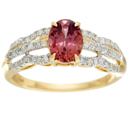 """As Is"" Blue or Rose Zircon & Diamond Ring, 14K Gold 1.75 ct"
