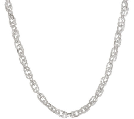 """As Is"" Vicenza Silver Sterling 20"" Diamond Cut Triple Rolo Necklace, 16.5g"