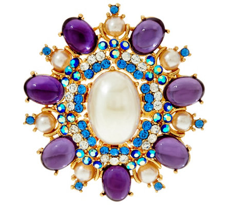 """As Is"" Joan Rivers Royal Estate Style Brooch"
