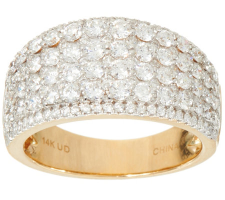 Milestone Diamond Band Ring, 14K Gold 2.00 cttw, by Affinity