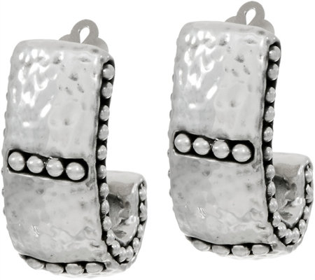 simon sebbag sterling silver hammered hoop clip earring page 1