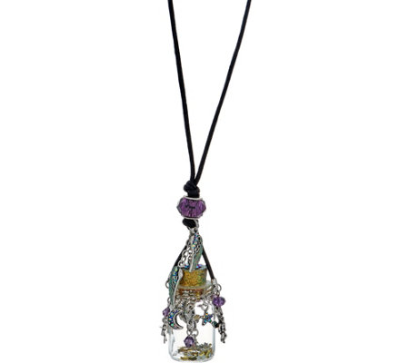 Kirks Folly Angel in a Bottle Cord Necklace