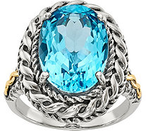 Sterling & 14K Oval Gemstone Ring - J378192
