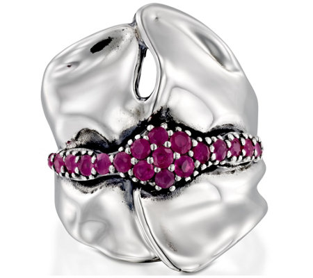 Hagit Sterling Ruby Sculpted Ring