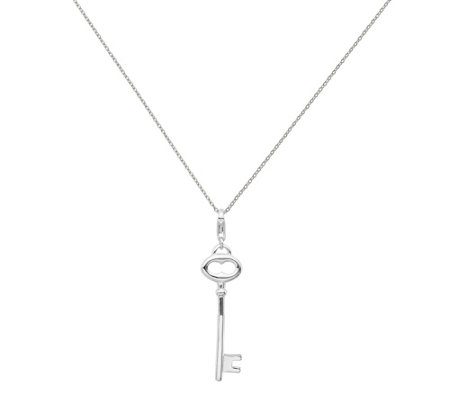 Amore La Vita Sterling Polished Key Charm