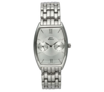 Gino Franco Men's Stainless Steel Barrel Bracelet Watch - J105693