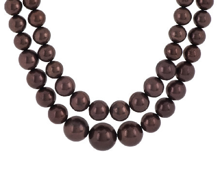 Linea by Louis Dell'Olio 2-row Graduated Bead Necklace