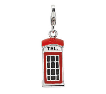 Amore La Vita Sterling Dimensional TelephoneBooth Charm - J299993