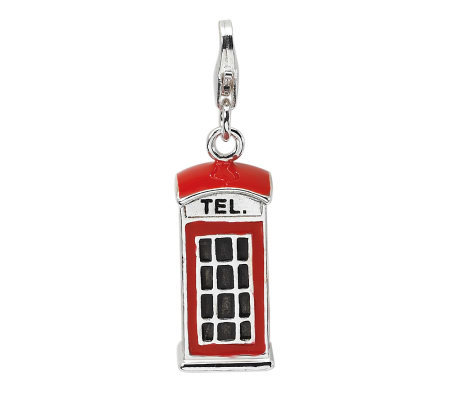 Amore La Vita Sterling Dimensional TelephoneBooth Charm