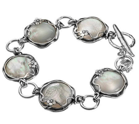Or Paz Sterling Mother-of-Pearl Toggle Bracelet