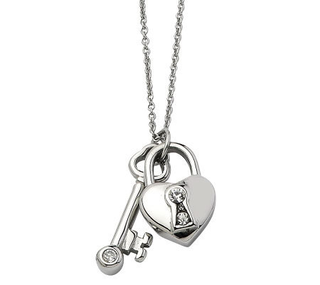 latest heart lock open and product real pendant necklace design key bracelet set detail fashion