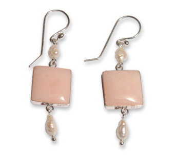 "Novica Artisan Crafted Sterling ""Pink Windows""Earrings - J303493"