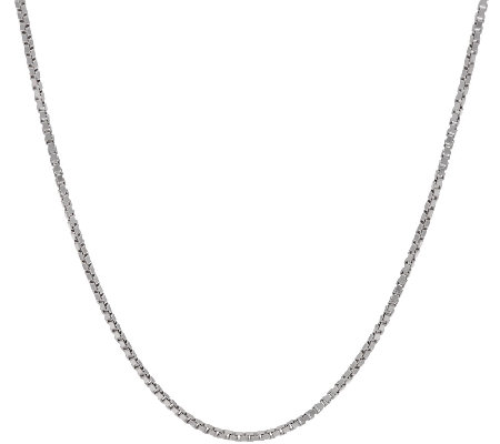 Italian Silver Sterling Adjustable Box Chain Necklace, 17.0g