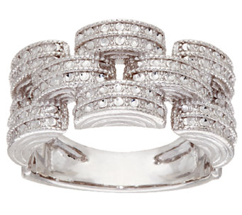 Sterling Silver Diamond Cut Ring by Silver Style - J320993