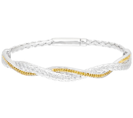 Interlocking Woven Diamond Bracelet, Sterling, 1/3ct tw, by Affinity